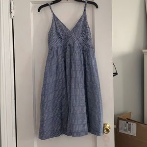 Gap Blue & White Striped Babydoll Dress